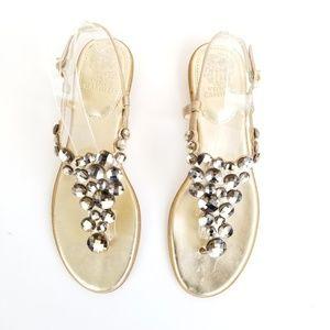 VINCE CAMUTO Jordies Soft Gold Thong Sandal